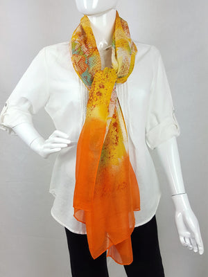 Miami Snake Print Sunrise Orange Sarong Scarf