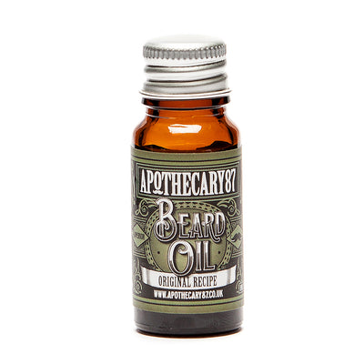 Apothecary87 Beard Oil The Original Recipe 10ml Bottle Front