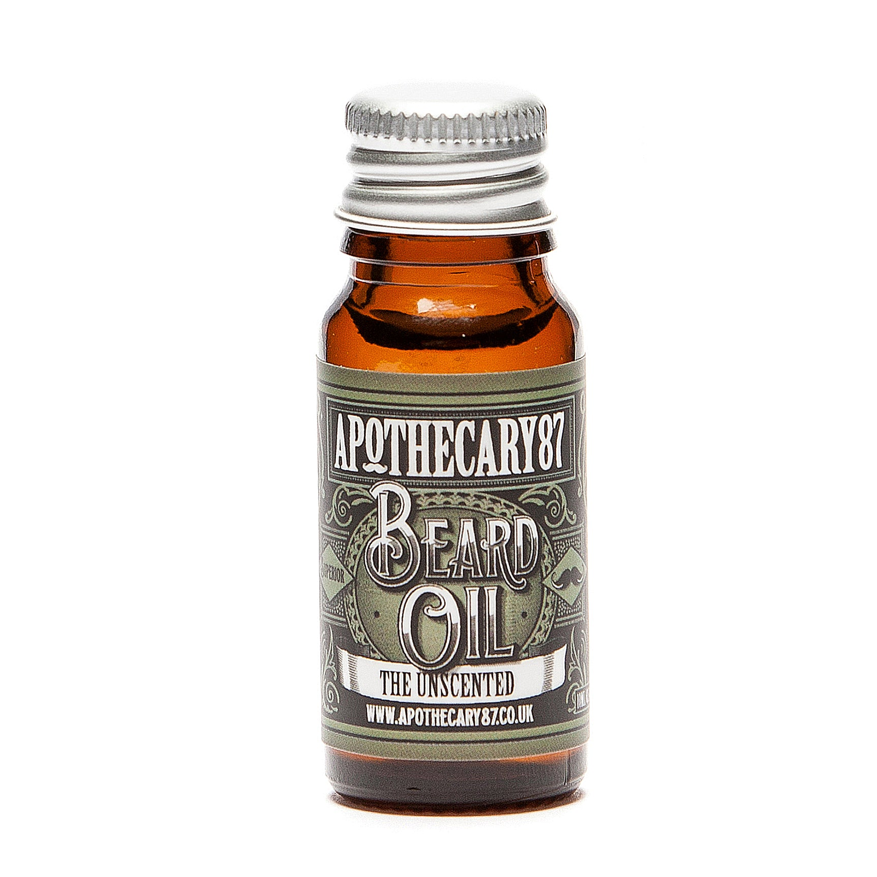 Apothecary87 Beard Oil The Unscented 10ml Bottle Front