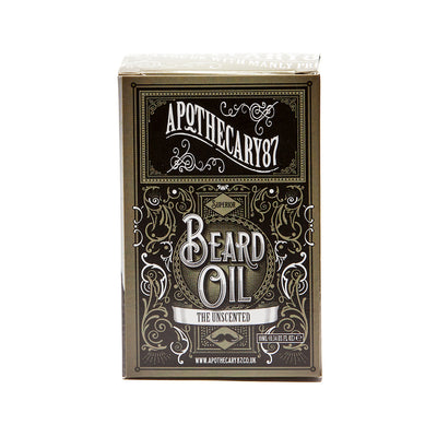 Apothecary87 Beard Oil The Unscented 10ml Box Front