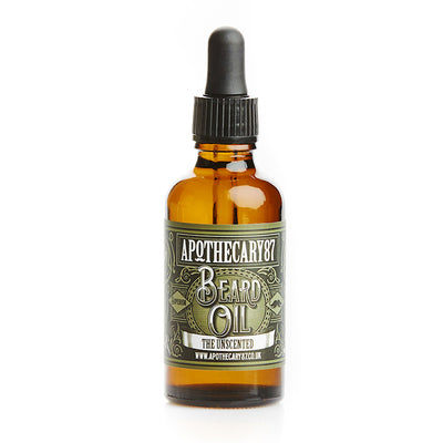 Apothecary87 Beard Oil The Unscented 50ml Bottle Front