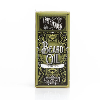 Apothecary87 Beard Oil The Unscented 50ml Box Front