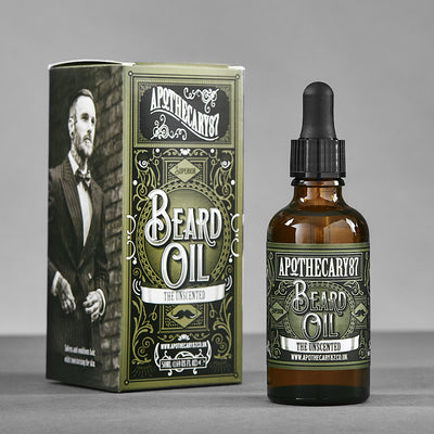 Apothecary87 Beard Oil The Unscented 50ml Box and Bottle