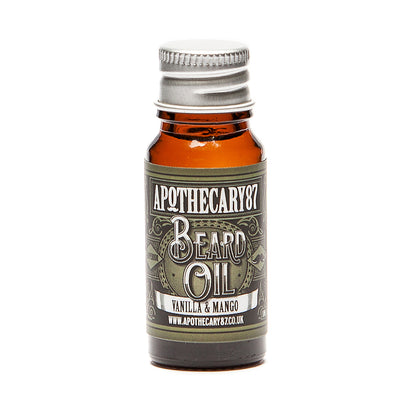 Apothecary87 Beard Oil Vanilla Mango 10ml Bottle Front