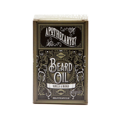 Apothecary87 Beard Oil Vanilla Mango 10ml Box Front