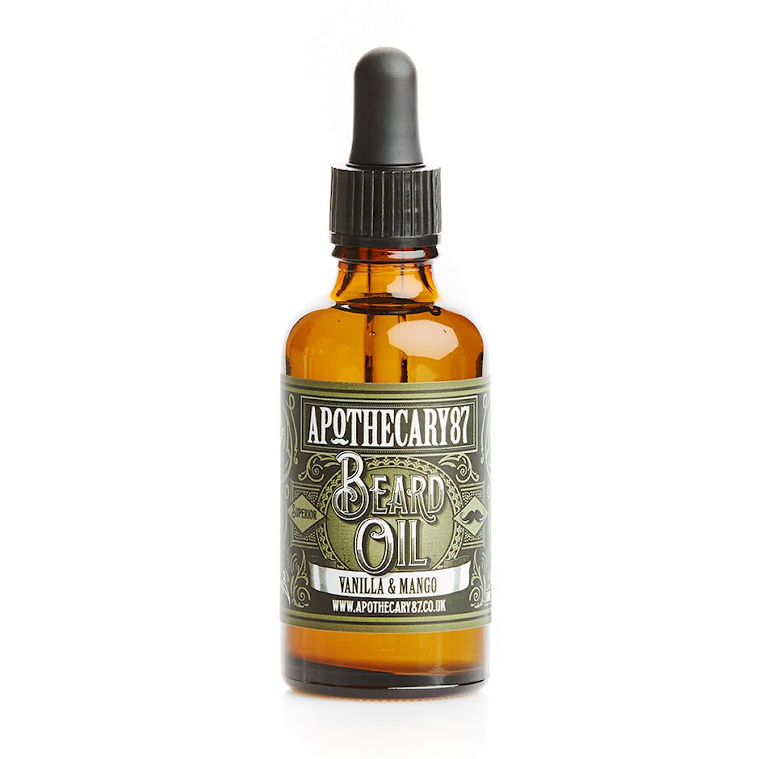 Apothecary87 Beard Oil Vanilla Mango 50ml Bottle Front
