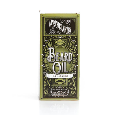 Apothecary87 Beard Oil Vanilla Mango 50ml Box Front