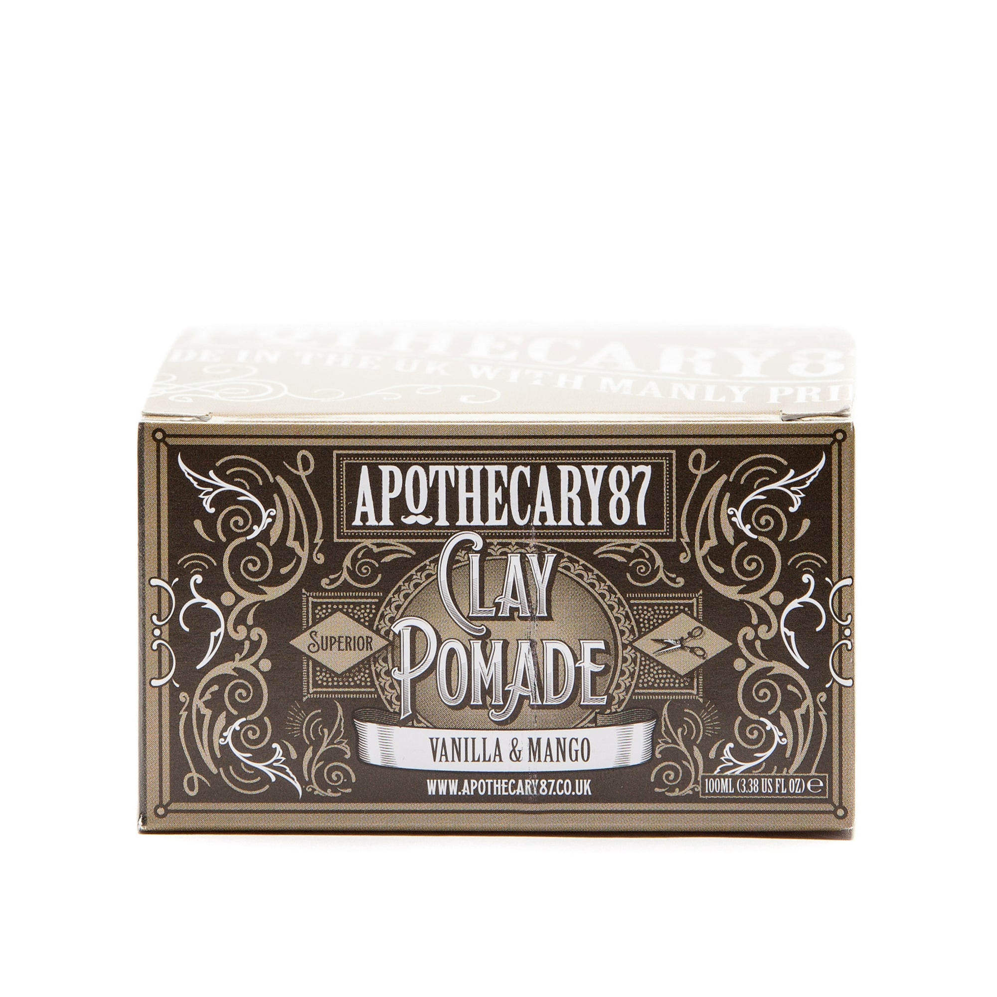Apothecary87 Clay Pomade Matte Firm Hold Hair Styling Clay Box Front