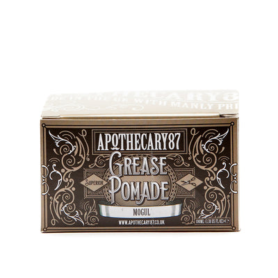 Apothecary87 Grease Pomade Shine Strong Hold Hair Styling Box Front