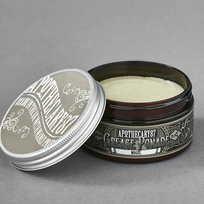 Apothecary87 Grease Pomade Shine Strong Hold Hair Styling Tub Open