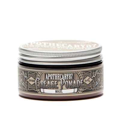 Apothecary87 Grease Pomade Shine Strong Hold Hair Styling Tub Front