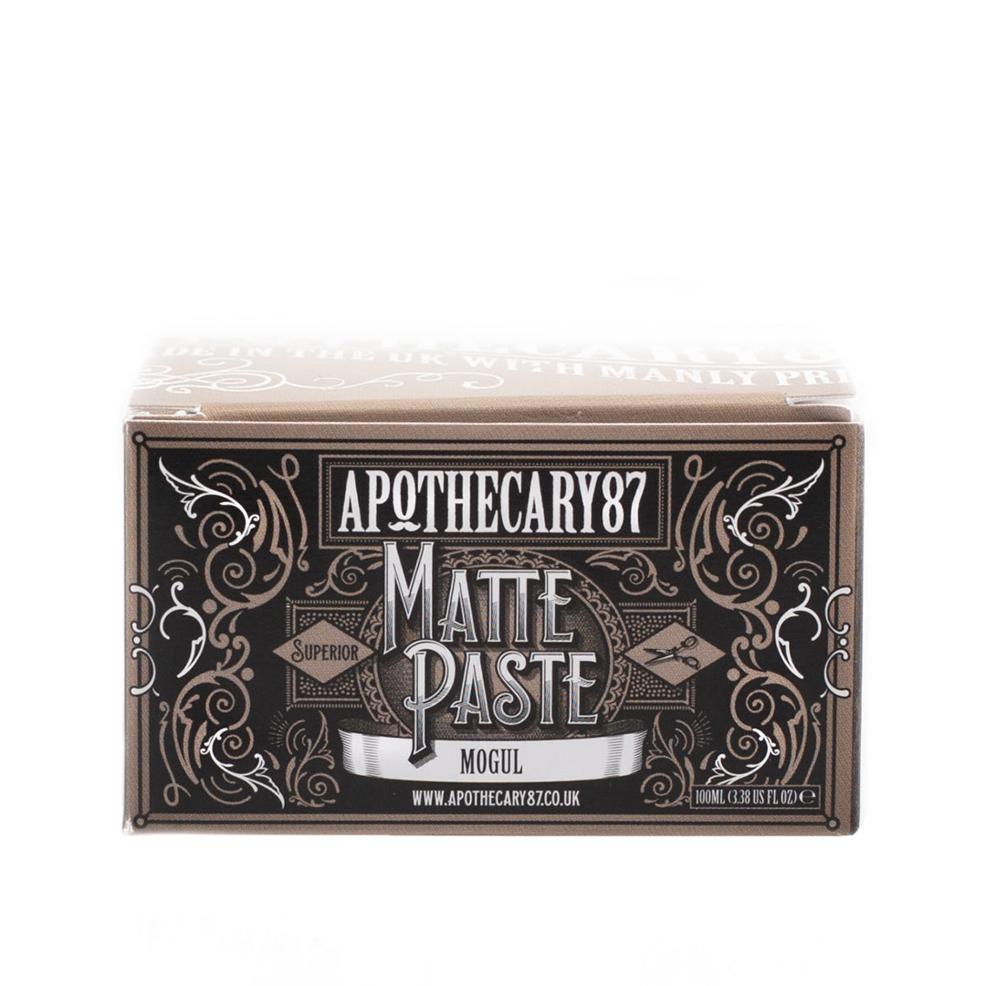 Apothecary87 Matte Paste Matte Firm Hold Hair Styling Pomade Box Front