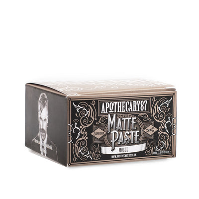 Apothecary87 Matte Paste Matte Firm Hold Hair Styling Pomade Box Side