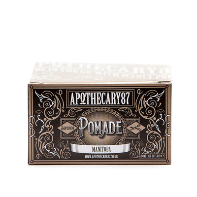 Apothecary87 Pomade High Shine Strong Hold Hair Styling Pomade Box Front