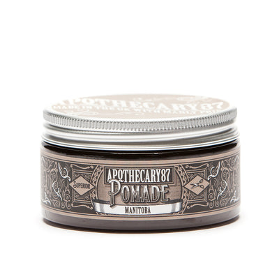 Apothecary87 Pomade High Shine Strong Hold Hair Styling Pomade Tub Front