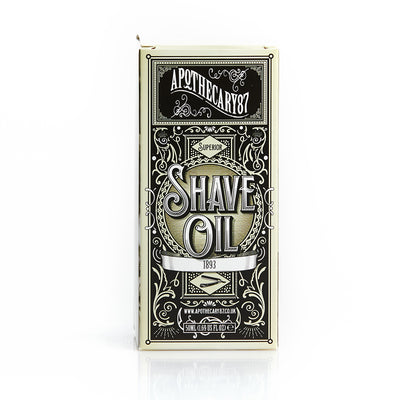 Apothecary87 Shave Oil 1893 Shaving Oil Box Front