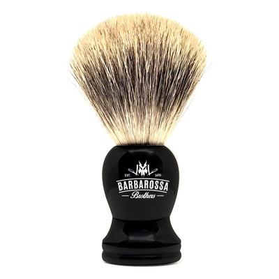 Barbarossa Pure Badger Shaving Brush Black Front
