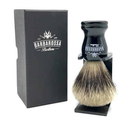 Barbarossa Pure Badger Shaving Brush Black with Box