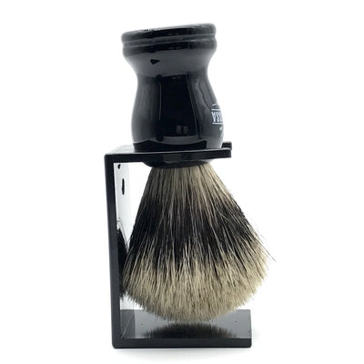 Barbarossa Pure Badger Shaving Brush Black Side