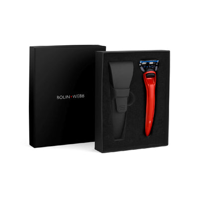 Bolin Webb X1 Fusion5 Razor & Case Cooper Red Gift Set Luxury Razor