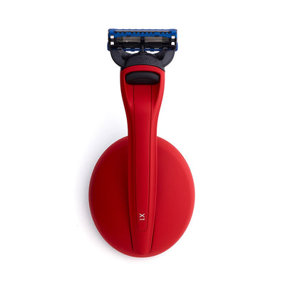 Bolin Webb X1 Fusion5 Razor & Stand Matte Red Top