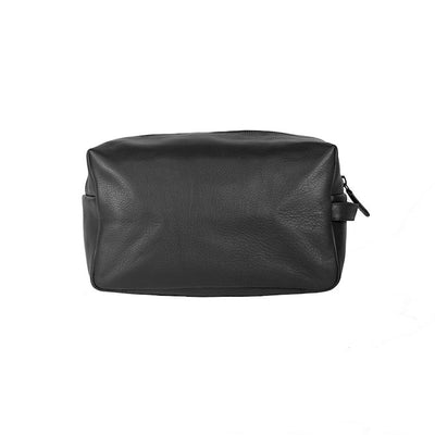By Vilain Toiletry Bag Black Leather Back