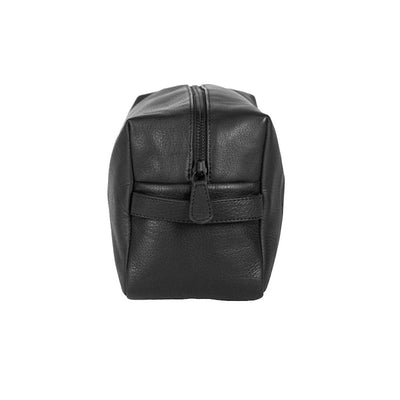 By Vilain Toiletry Bag Black Leather Side