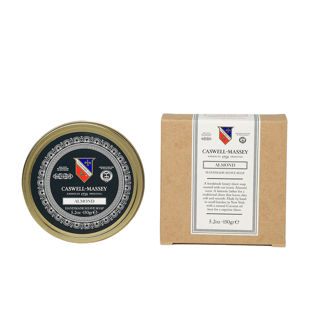 Caswell-Massey Almond Premium Shaving Soap In Tin