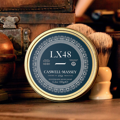 Caswell-Massey LX48 Premium Shaving Soap In Tin