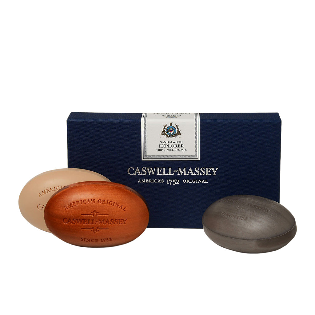 Caswell-Massey Sandalwood Explorer Three Soap Set