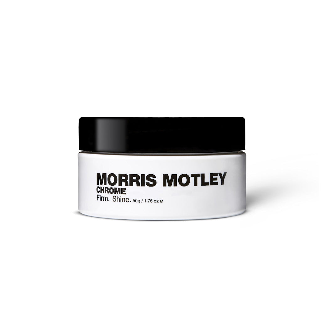 Morris Motley Chrome Travel Size Hair Styling Cream Tub Front