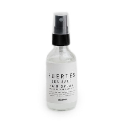 Fuertes Sea Salt Travel Size Hair Spray Organic Texturizing Spray Front