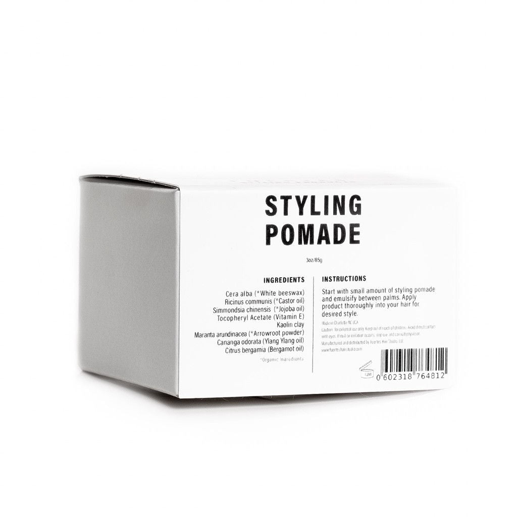 Fuertes Styling Pomade Organic Hair Styling Product Box