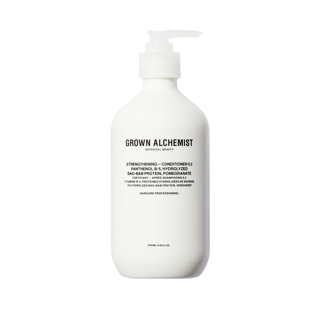 Grown Alchemist Strengthening Conditioner 0.2 Panthenol B-5, Hydrolyzed BaoBab Protein, Pomegranate