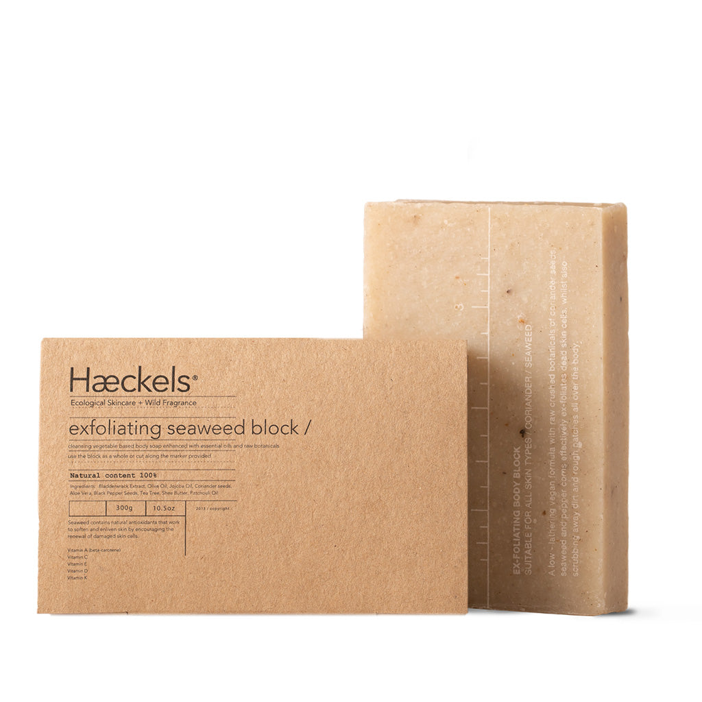 Haeckels Exfoliating Vegan Seaweed Block Body Soap 320g