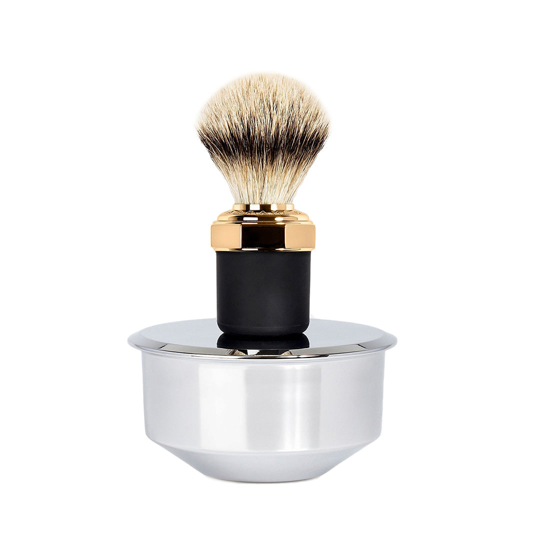 Brush & Bowl Shaving Set - Brass