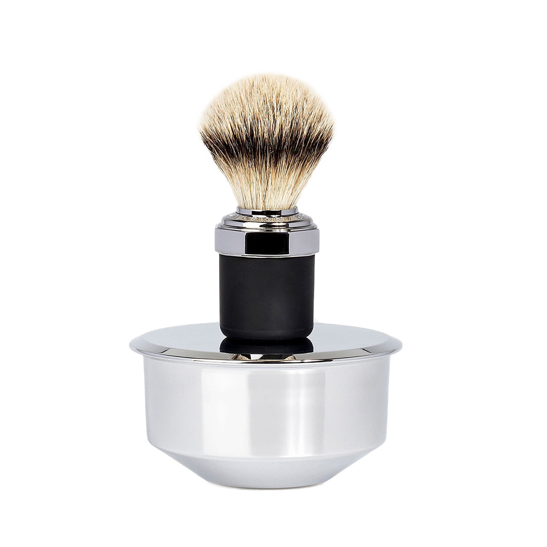 Brush & Bowl Shaving Set - Chrome