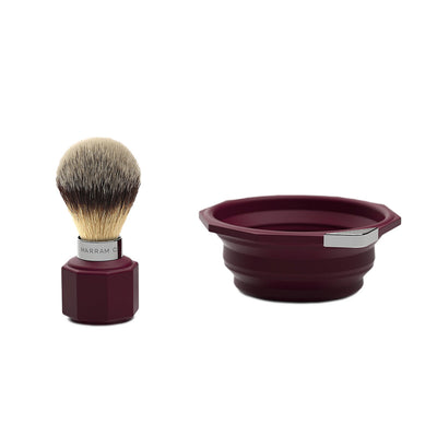 Marram Co Pop Shaving Travel Set Aubergine