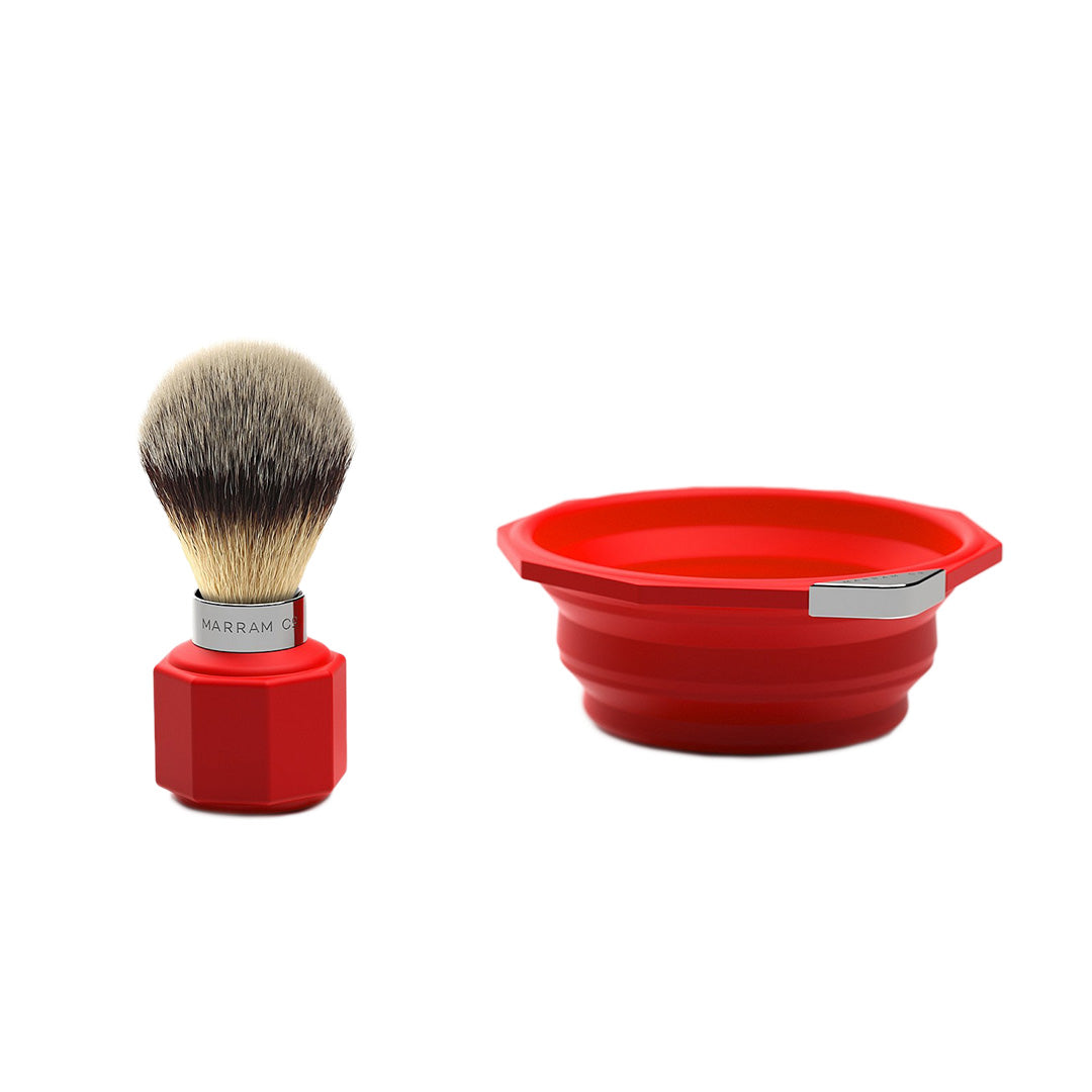 Marram Co Pop Shaving Travel Set Red