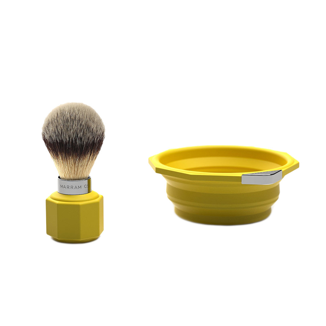 Pop Shaving Travel Set - Yellow