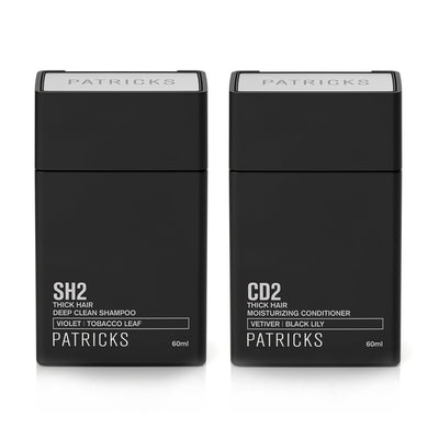 Patricks SH2 + CD2 Deep Clean Shampoo & Moisturising Conditioner Travel Size Front