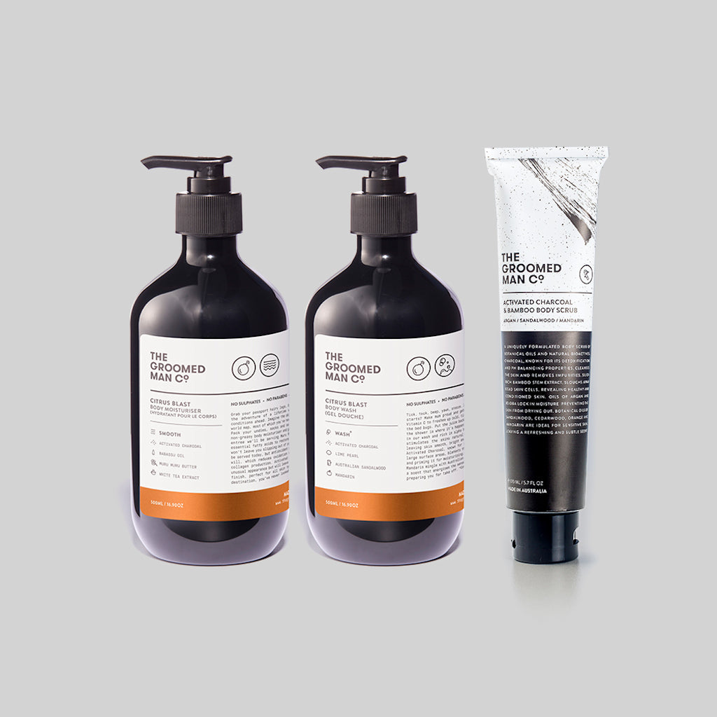 The Groomed Man Co. Shower Power Pack Premium Body Care Front