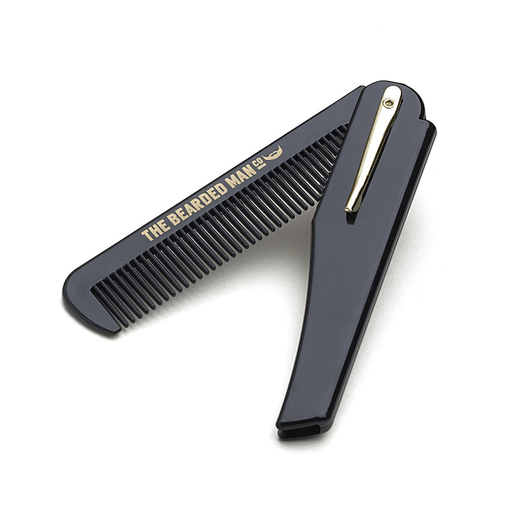 The Bearded Man Company 002 Gents Folding Beard Comb Angle