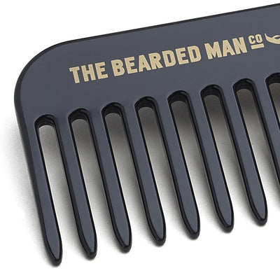 The Bearded Man Company 003 Gents Beard Pick Comb Closeup