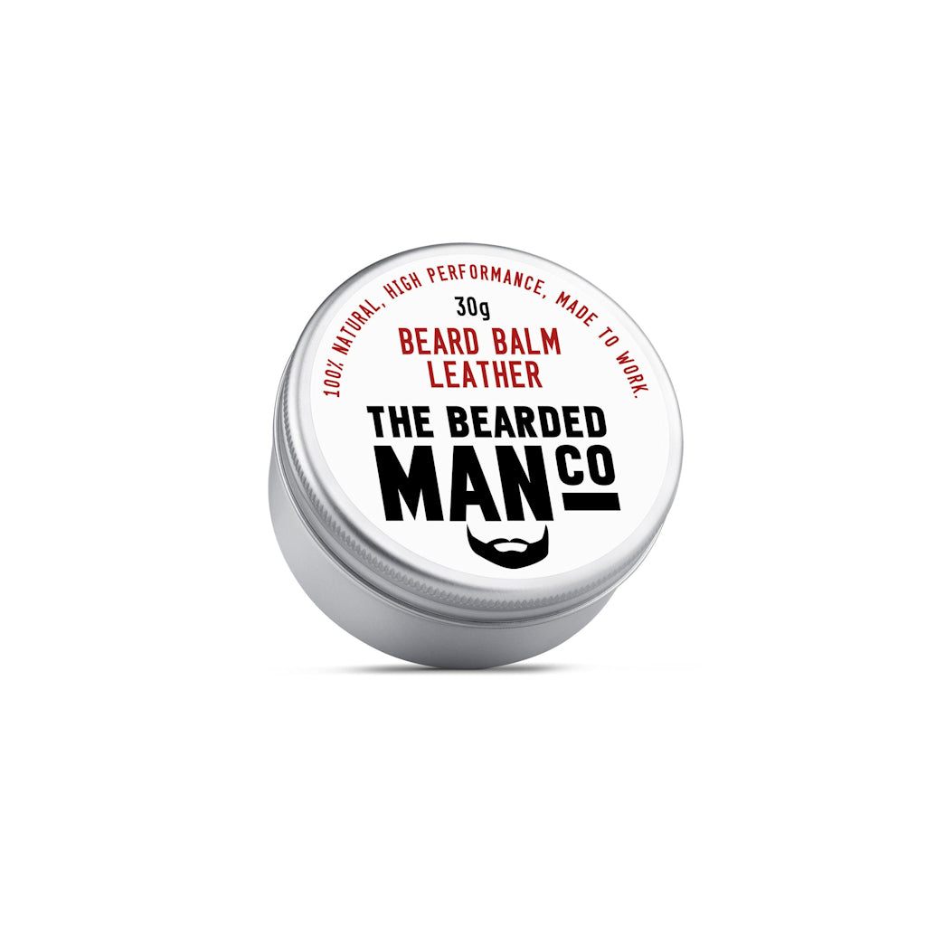 The Bearded Man Company Leather 30g All Natural Beard Balm Front
