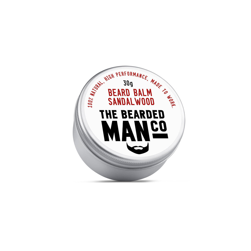 The Bearded Man Company Sandalwood 30g All Natural Beard Balm Front