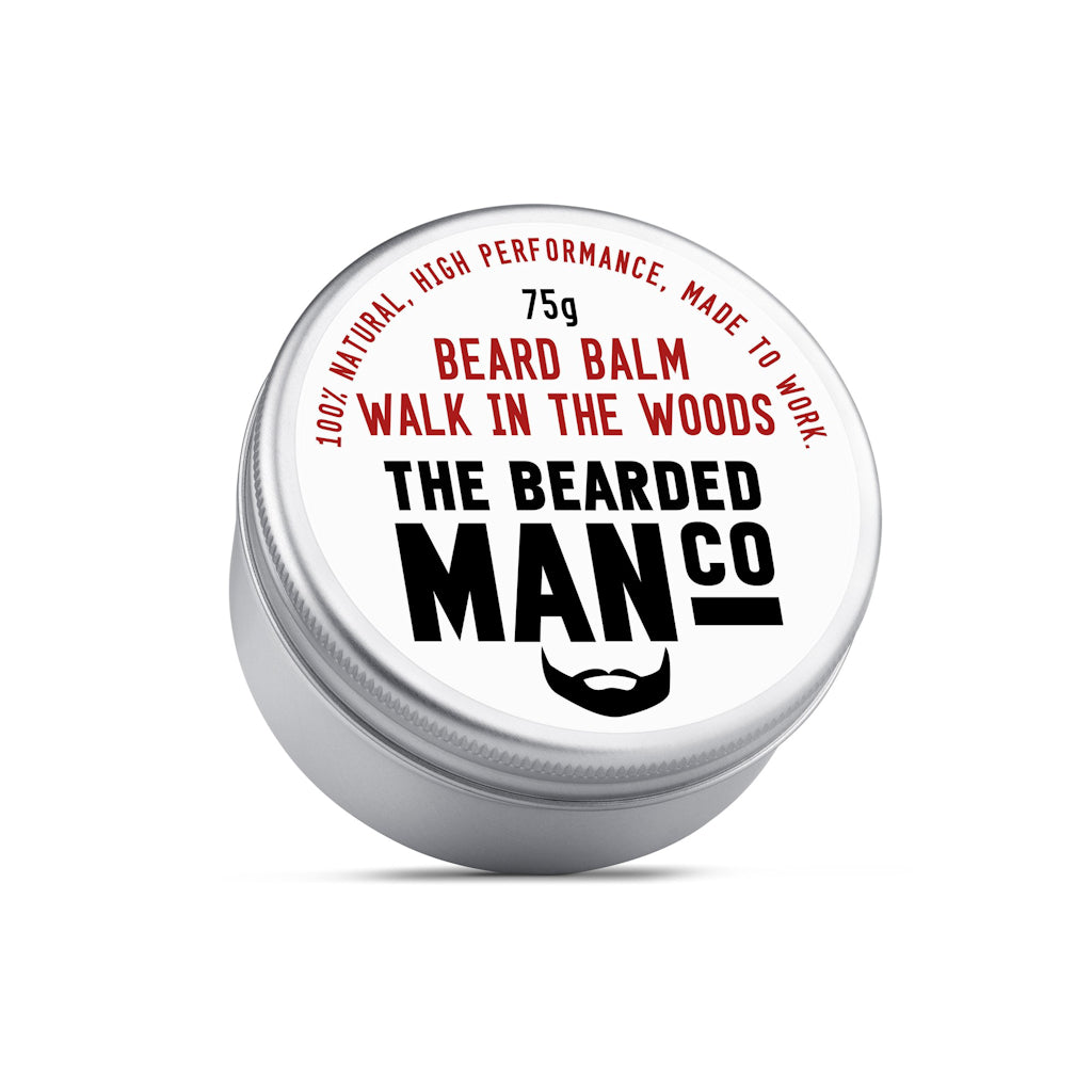 The Bearded Man Company Walk In The Woods 75g All Natural Beard Balm Front