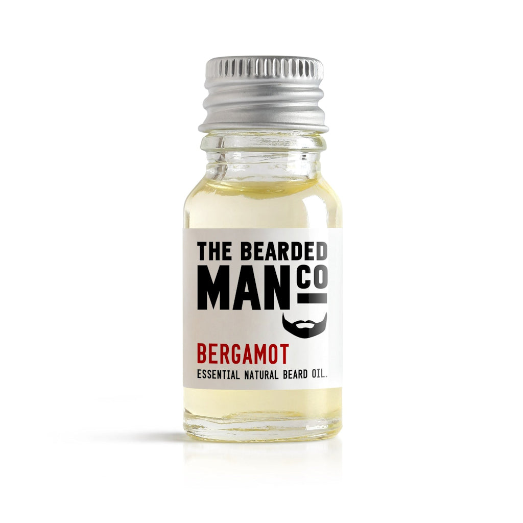 The Bearded Man Company Bergamot 10ml All Natural Beard Oil Front