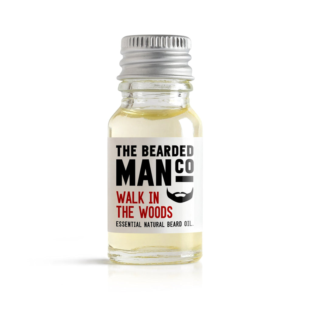 The Bearded Man Company Walk In The Woods 10ml All Natural Beard Oil Front