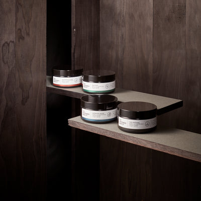 The Groomed Man Co. The Ultimate Beard Balm Pack on Wood Shelve